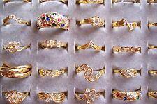 Lot anneaux doré argent couleurs neuf strass strass fingerring fabriquerai top