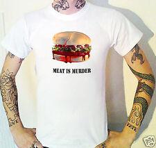 Meat Is Murder T-Shirt Vegetarian Vegan Fast Food Burger Bloody Yuk!