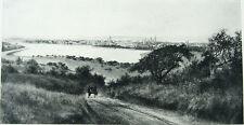 CITY OF OAKLAND California Lake Merritt ~ Old 1888 Landscape Art Print RARE!!