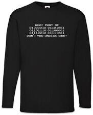 What Part Of Binary Don't You Understand Langarm T-Shirt Informatiker Fun Nerd