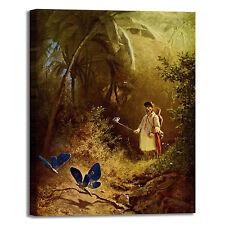 Spitzweg cacciatore di farfalle quadro stampa tela dipinto telaio arredo casa