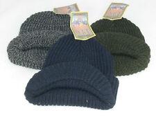 Genuine Dorfman Pacific (DPC) Beanie Hat with Brim One Size Unisex