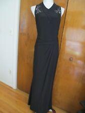 Lauren Ralph Lauren Women's Black Evening Maxi Sequined Mesh NWT Dress 4,10