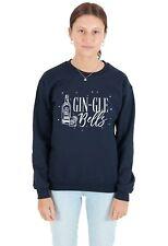 Gin-gle Bells Sweater Top Jumper Sweatshirt Christmas Xmas Funny Gin Jingle