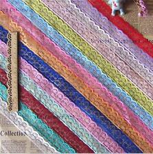 10Yard Vintage Multicolor lace Wedding Ribbon Sewing Craft Lace Trim 2.5cm