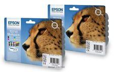 T0715 X2 Confezione Multipla ORIGINALE Epson inchiostro Cheetah inchiostri C13T07154010