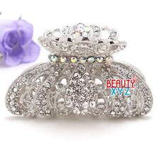 New Fancy Rhinestone Imperial crown design high quality metal Hair Claws Clip #8