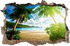 Adesivi Murali Buco nel muro spiaggia tropicale decorazioni murali 01