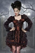 4-tlg. Vampirkostüm, Gothik, Damen, Horrorkostüm, Halloween, Karneval, Draculina