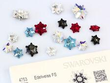 Genuine SWAROVSKI 4753 Edelweiss Flower Fancy Rhinestones * Many Sizes & Colors