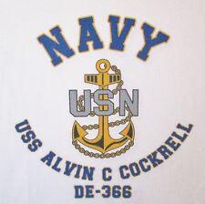 USS ALVIN C. COCKRELL  DE-366*  DESTROYER ESCORT * U.S NAVY W/ ANCHOR* SHIRT