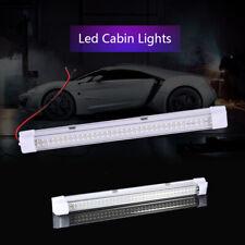 12V T5 72 LED Car Interior White Strip Lights Bar Lamp Van Caravan ON OFF Switch