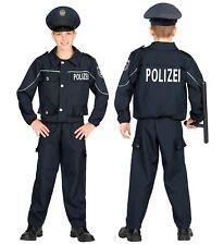 Polizei Jungen Kostüm mit Hut (Deutsche Uniform) Schlagstock Polizist Karneval,K
