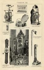 1895= ANTICHI OROLOGI = Industria Artigianato = STAMPA Antica = Old Engraving