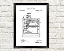 Máquina de palomitas de maíz impresión: película Snack patente Blueprint Cartel