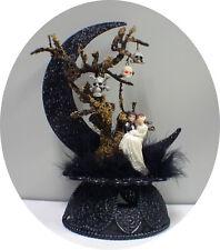Skull Tree Halloween Skeleton Wedding Cake Topper Shower Groom  top engagement