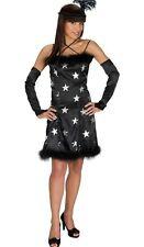 CHARLSTEN Costume Vestito 20 Anni da danza+Cerchiello+Manicotti nero/argento