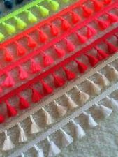 Wide Tassels Lace Fringe Trims Ribbon Braided Design Crafts Garments Accessories