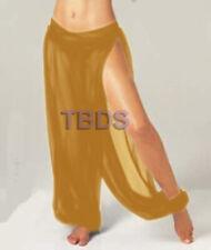 Golden   Student Slit Harem Yoga Trouser Belly Dance Pant Pantalons   25 Color