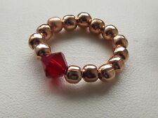 Piedra Cristal elegir {} perlas de oro rosa estiramiento anillo del dedo del pie Caja de Regalo Gratis