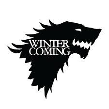 "6"" STARK WINTER SIGIL Vinyl Decal Sticker Car Window Laptop Game of Thrones"