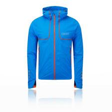 OMM Mens Kamleika Jacket Top Blue Sports Running Full Zip Hooded Waterproof