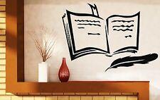 Wall Sticker Vinyl Decal Book Pen Poetry Prose Training Bookmark (n290)