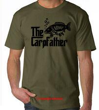 Carp Fishing T-SHIRT CARPFATHER rodfather carp hunter carp crew - olive tshirt