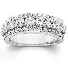 1 1/2ct Diamond Anniversary Wedding Band 14K White Gold Ring Band New