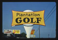 Photo Plantation Golf sign Myrtle Beach South Carolina 1985 Margolies 99a