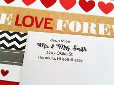 White/Brown Kraft SOON TO BE MR & MRS Wedding Invitation Return Address Labels