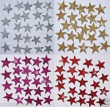 STICKER GLITTER STARS self adhesive card making scrapbook embellishment topper