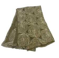Sciarpa donna fango stola con disegni geometrici filo ricamo corda cotone seta