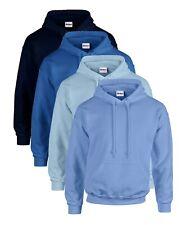 Gildan BLUE Heavy Blend Hoodie Hooded Sweat Jumper Hoody