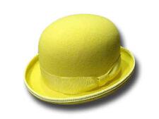 Melegari Cappello a Bombetta in feltro di lana giallo
