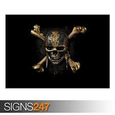 Piratas Del Caribe Dead (AB077) Movie Poster-arte cartel impresión A1 A2 A3