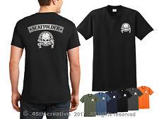 Scaffolding T-shirt - scaffolder skull shirt scaffold erector builder tee shirt