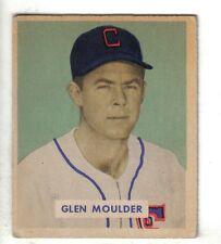 1949 Bowman Baseball Card #159 Glen Moulder, Chicago White Sox EX+