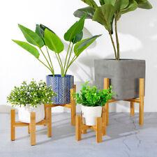 Flower Pot Standing Holder Home Garden Plant Bonsai Display Wooden Strong Rack