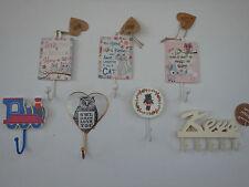 Wall mounted hook various designs cat keys love owl train boys bedroom girls