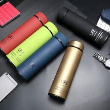 500ml Stainless Steel Hot Flask Sports Mug Vacuum hermos Insulated Bottle UK EW