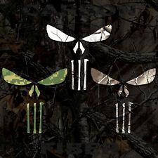 Punisher Decal Camouflage Vinyl Skull Sticker