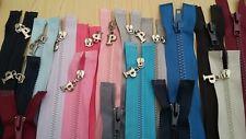 New-Chunky Open End Nylon Zips Various Colours/Lengths Fleece  Jacket Cardigan