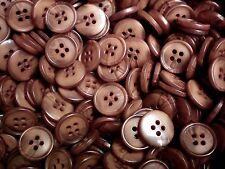 15mm 24L Light Brown Warm Golden Brown Swirl Pattern 4 Hole Craft Buttons (W317)