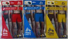 RBX Milk Silk Men's Boxer Briefs Athletic 2 pack Choose Size & Style  Poly Blend