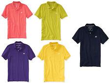 NWT Aeropostale AERO A87 Logo Solid Piqué Polo Tee T Shirt