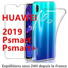 HUAWEI P SMART 2019 COQUE + FILM VITRE EN VERRE TREMPE ETUI HOUSSE