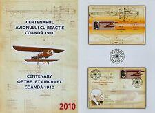 Rumänien 2010 Henri Coanda,Flugzeug,Physiker Mi.Block 481 I,Block 481 II,FDC