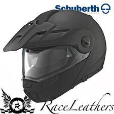 Schuberth E1 Matt Negro Enduro Offroad Motocicleta Moto Casco frontal con cierre magnético