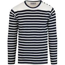 a677326c78d Crew Neck Long Sleeve Slim Fit Striped 100% Cotton T-Shirts for Men ...